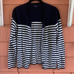 🧿 GAP | Navy & White Stripped Cardigan
